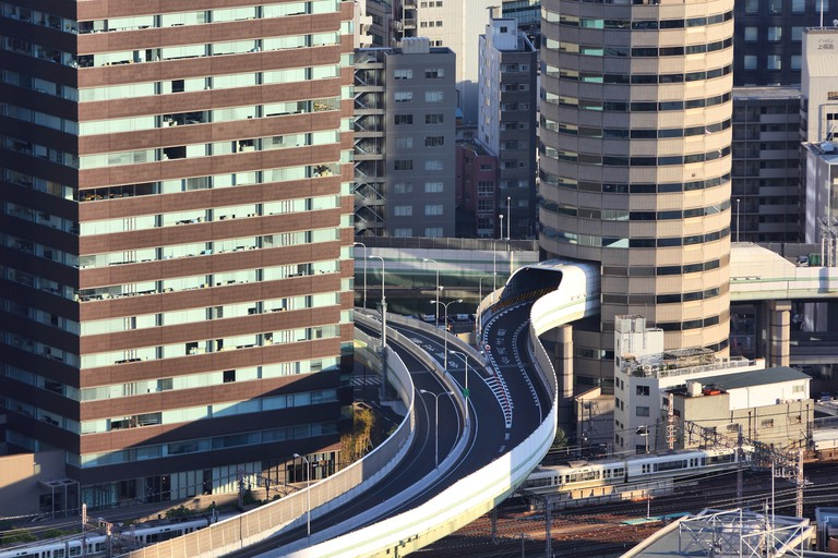 Osaka building hole