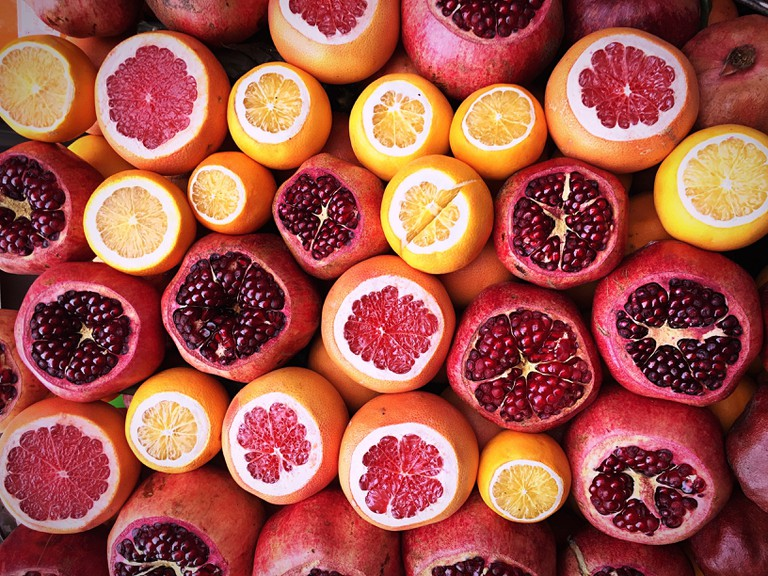 Healthy fruits in Athens