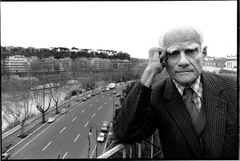 Alberto Moravia, Rome, 1979