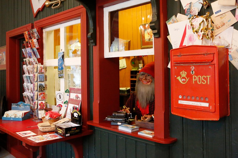 DROBAK, NORWAY - OCTOBER 29, 2015, Santa Claus house, shop and post office