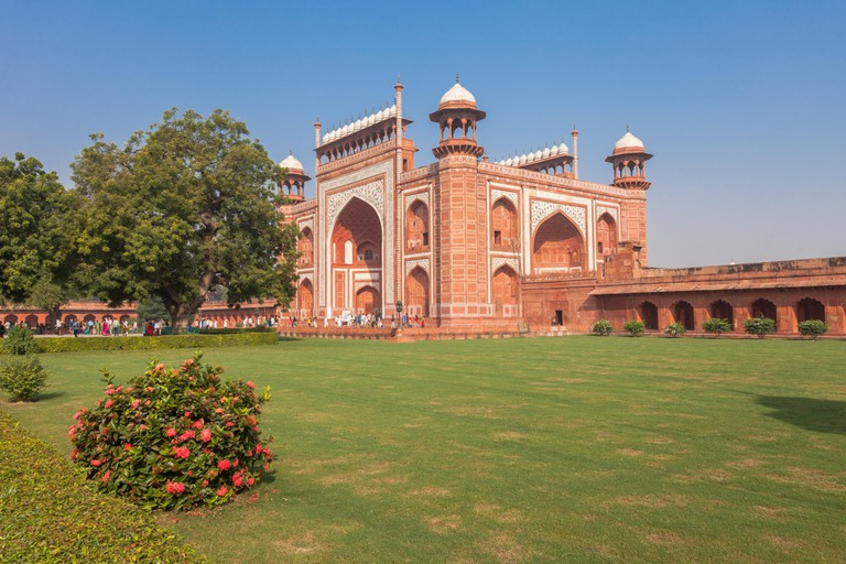 The fort in Agra, India. Image shot 10/2016. Exact date unknown.