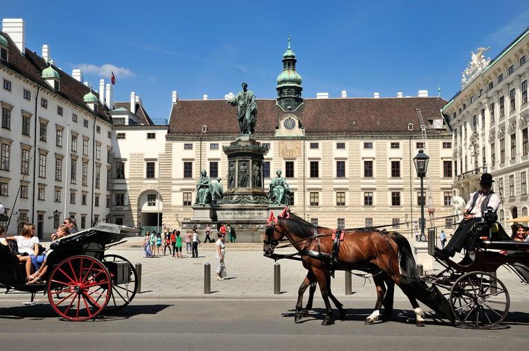 Hofburg palace central Vienna Austria
