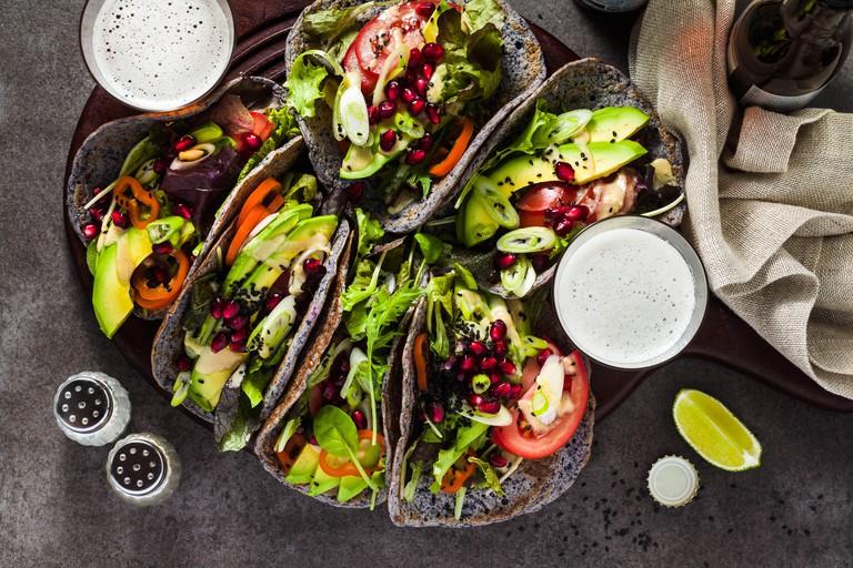 Gluten-free vegan tacos