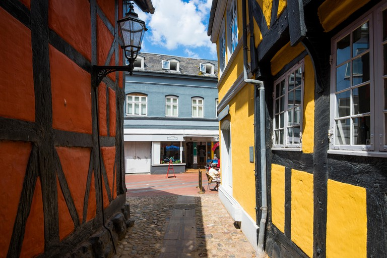 Traditional house in Kolding, Denmark