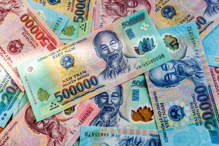 Royalty high quality free stock image of money, Vietnam.