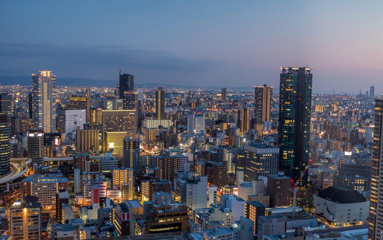 Fukushima district, Osaka, Japan.