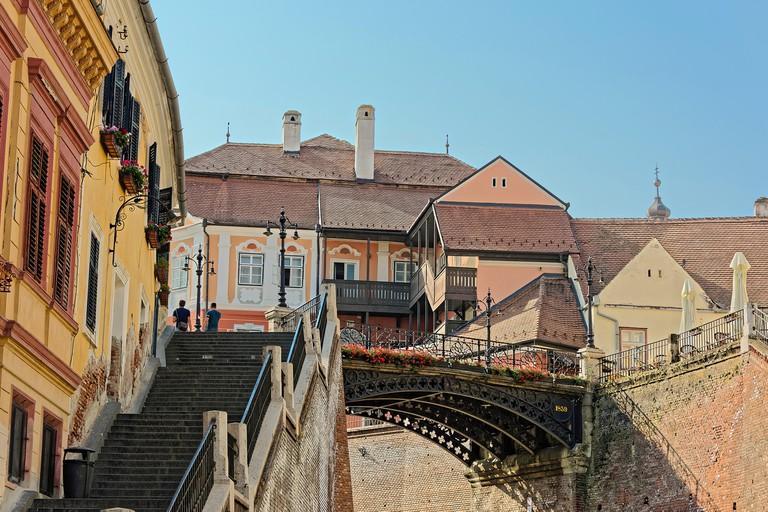 Old Town Sibiu Romania Liars Bridge