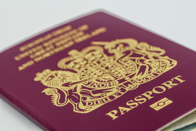 British Passport with European Union logo