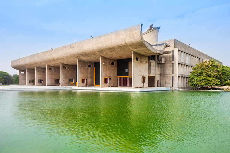 MC2NDM The Assembly building in the Capitol Complex of Chandigarh, India