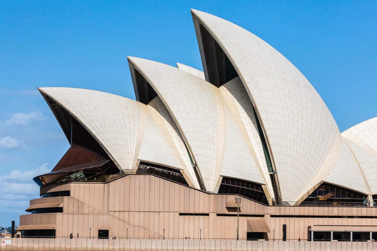Sydney Opera House, designed by Jorn Utzon and opened in the 1970s.