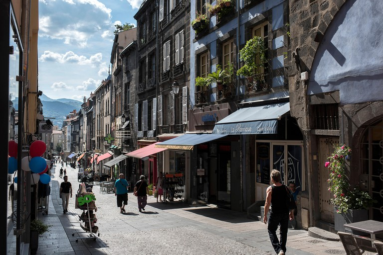 A road in Clermont-Ferrand