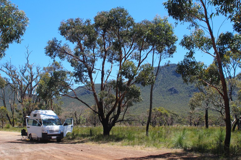 Travelling Australia with a campervan to the Grampians National Park