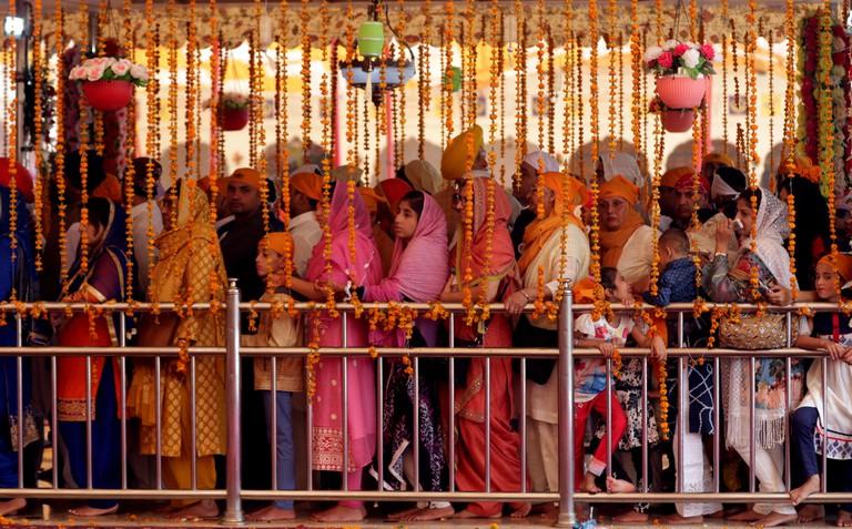 Sikh pilgrims celebrate the 550th birth anniversary of Guru Nanak, Lahore, Pakistan - 12 Nov 2019