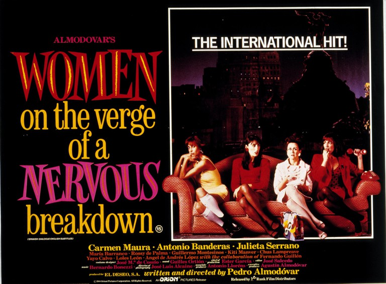 "The publicity poster for the movie ""Women on the Verge of a Nervous Breakdown"""