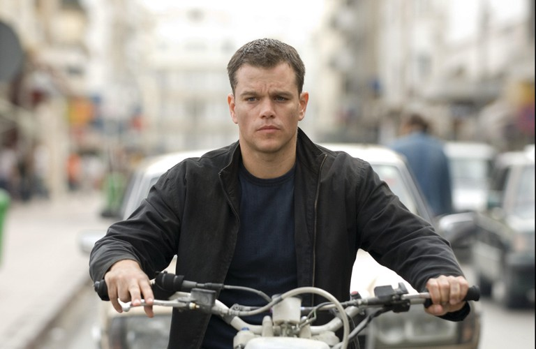 "Matt Damon in a still from the movie ""The Bourne Ultimatum"""