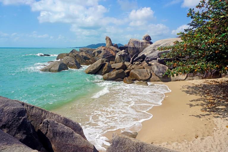 Hin Ta und Hin Yai FelsenLamai Beach, Koh Samui, Golf von Thailand, Thailand
