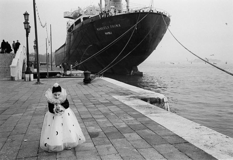 During carnival. ITALY. Venezia. 18/02/1982: