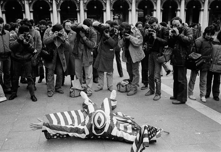 Carnival on Piazza San Marco, Venice, ITALY. 18/02/1982.