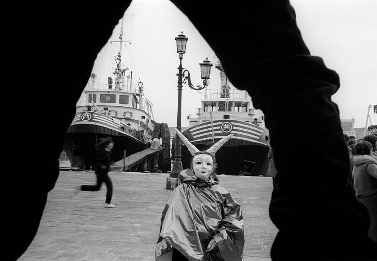 ITALY. Venezia. 20/02/1982. During Carnival.