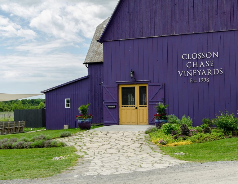 The Closson Chase Winery in Prince Edward County, Ontario, Canada