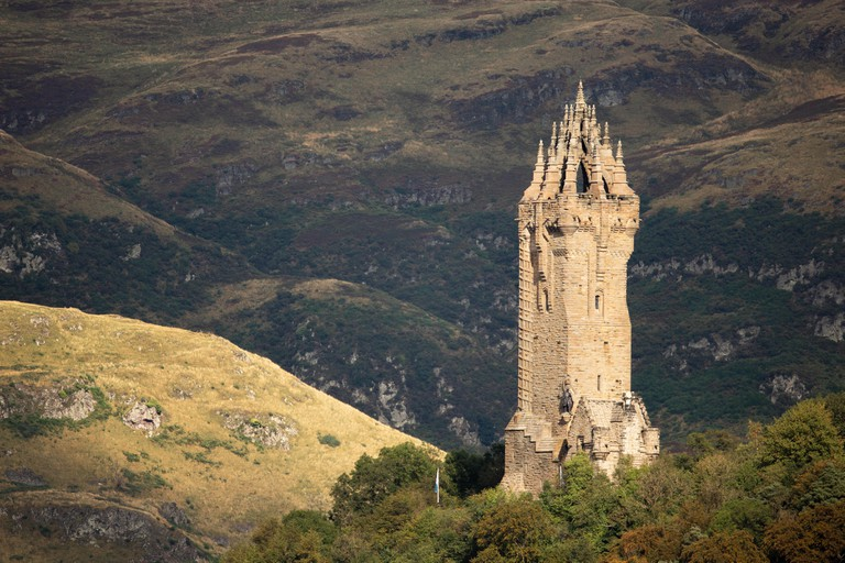 The Wallace Monument on Abbey Craig, Stirling, Scotland.