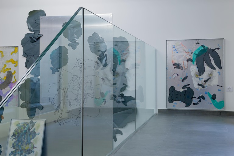 """Saskia Te Nicklin - Installation view from """"So Fresh on Top So Rotten Below"""" - Courtesy of the artist and Vin Vin, Vienna"""