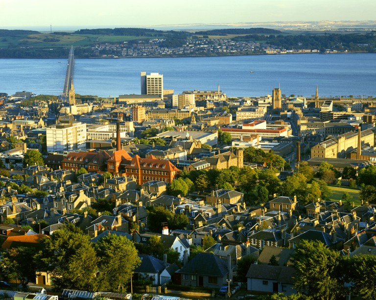 Dundee in Tayside seen from The Law