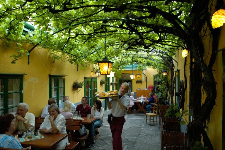 Vienna, traditional wine restaurant in Grinzing