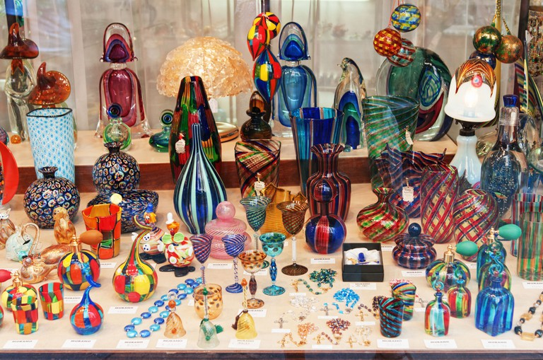 A shop selling glass souvenirs in Murano