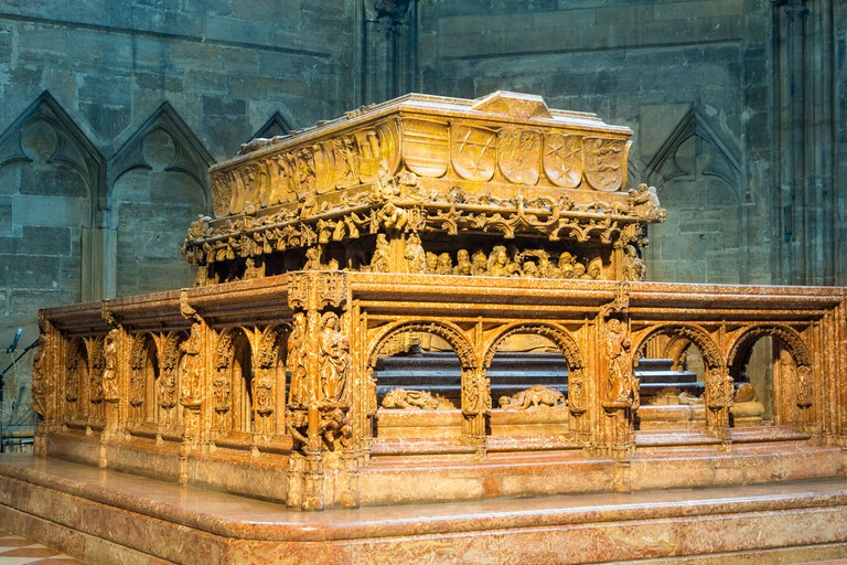 Vienna, St Stephen's Cathedral, Emperor Frederick III's raised sarcophagus. Image shot 2018. Exact date unknown.