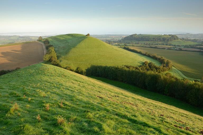 Cadbury Castle and Parrock Hill, Somerset, UK