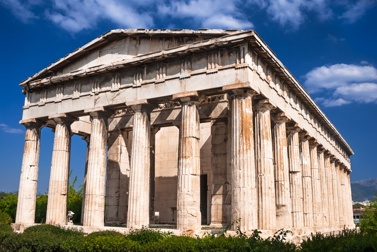 Temple of Hephaestus, is the best preserved ancient Greek temple, built in 415 BC.