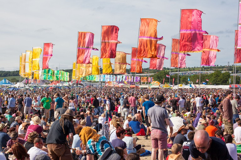 Crowds at Glastonbury festival