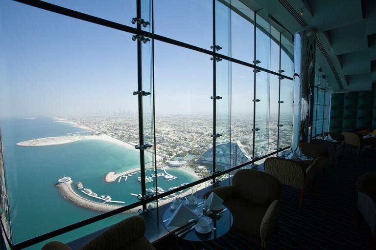 The Skyview Bar atop the Burj al-Arab Hotel, Dubai, United Arab Emirates