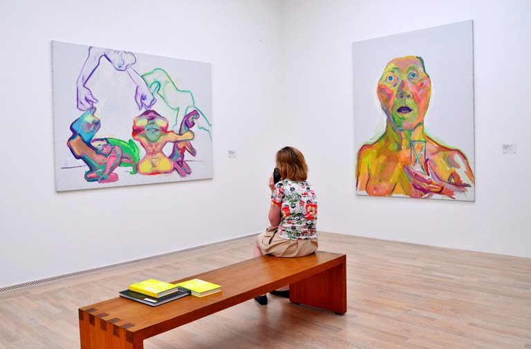 """Maria Lassnig (8 September 1919 ? 6 May 2014) was an Austrian artist known for her painted self-portraits and her theory of """"body awareness"""""""