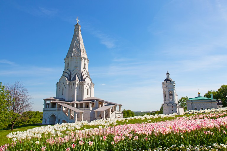 Church of the Ascension in Kolomenskoe, Moscow, Russia. UNESCO World Heritage Site.