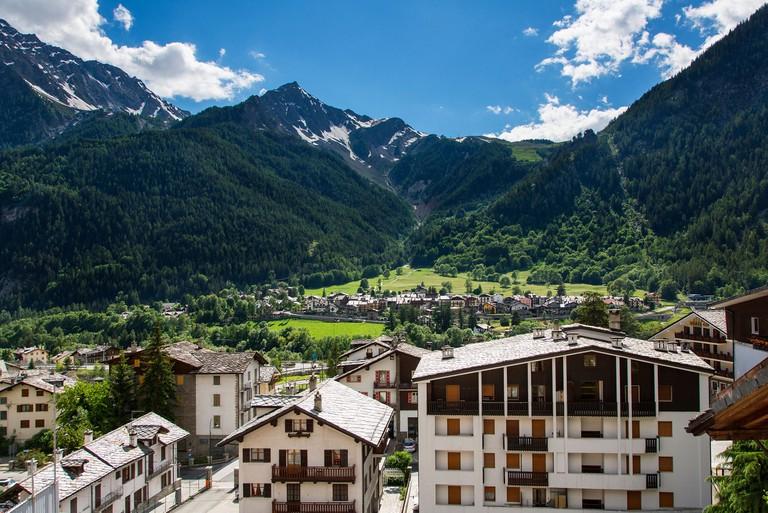 Valle d'aosta, Courmayeur, Italy,