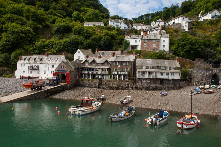 Clovelly harbour and lifeboat station