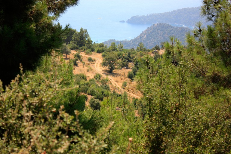A view of the mountains as seen from the Lycian way near Oludeniz