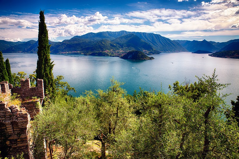 Lake Como from Castle Vezio, Varenna, Lombardy, Italy