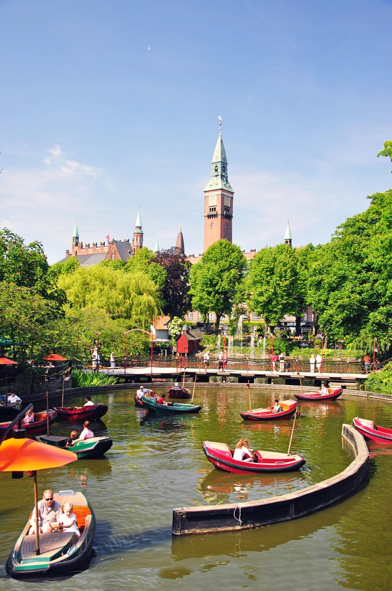 Dragon Boat Lake, Tivoli Gardens, Copenhagen, Hovedstaden Region, Denmark