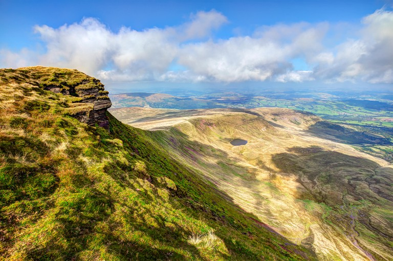 The Brecon Beacons viewed from the top of Pen-y-Fan