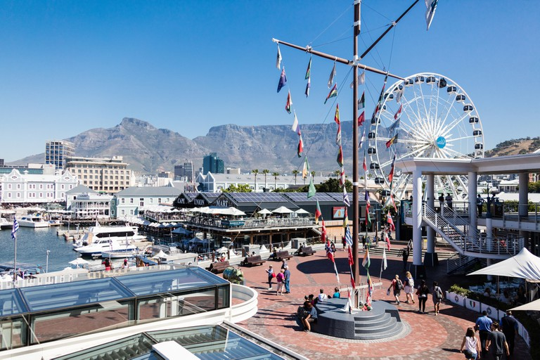 The famous waterfront in Cape Town