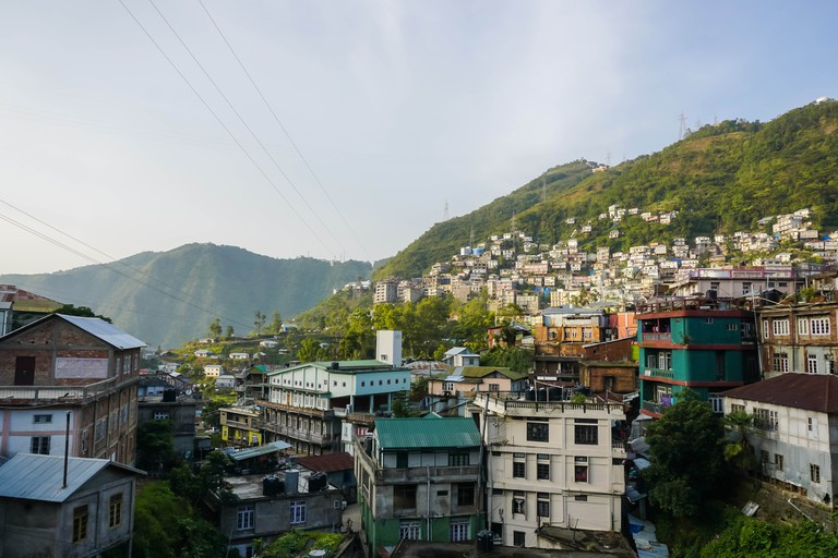 The beauty of the mountain town of Aizawl, Mizoram, India