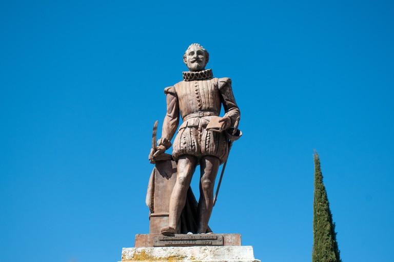 Bronze Statue of Miguel de Cervantes Valladolid