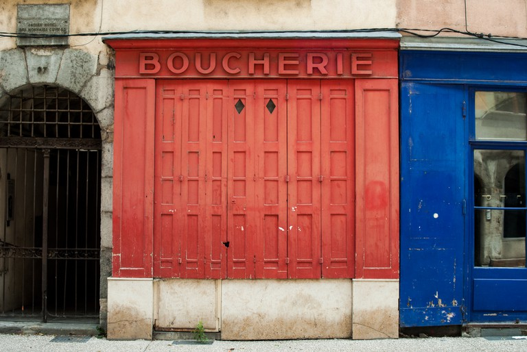 Closed boucherie storefront