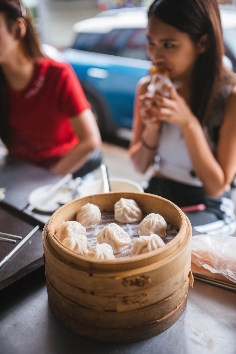 Chinese food steamed dumpling (Xiaolongbao)