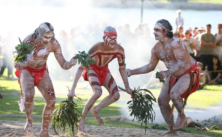 Australia Day 2008. Aboriginal dancers