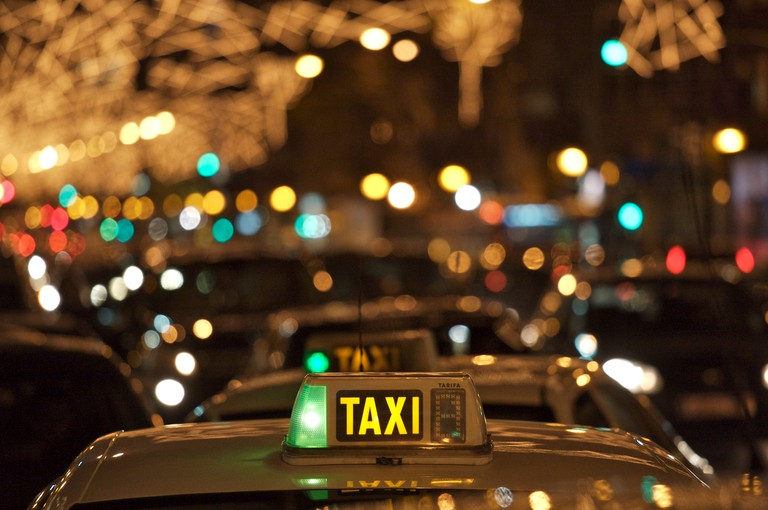 taxi at night
