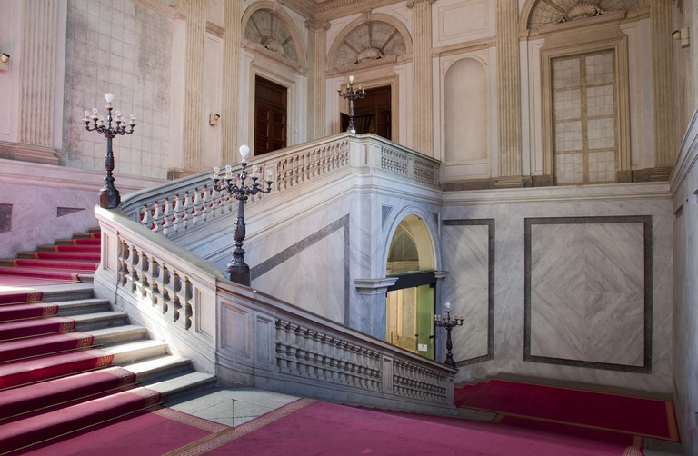 Milan staircase palazzo reale